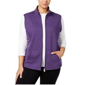 Karen Scott 0X Cassis Purple Vest BS25